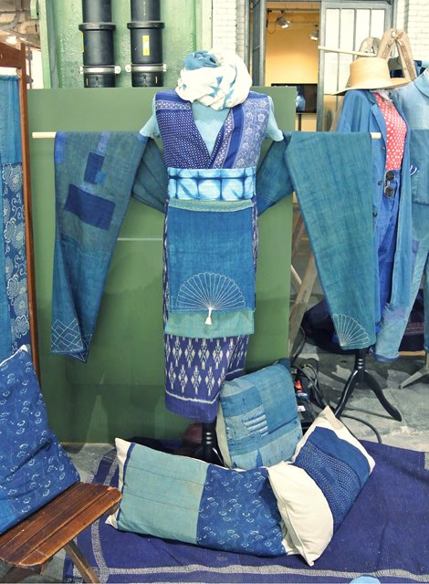 lizzie kroeze facing west amsterdam indigo long john blog expo workwear jackets jeans denim blue textilles clothing bread and butter july 2014 germany handmade sashiko japan usa us traditional (7)
