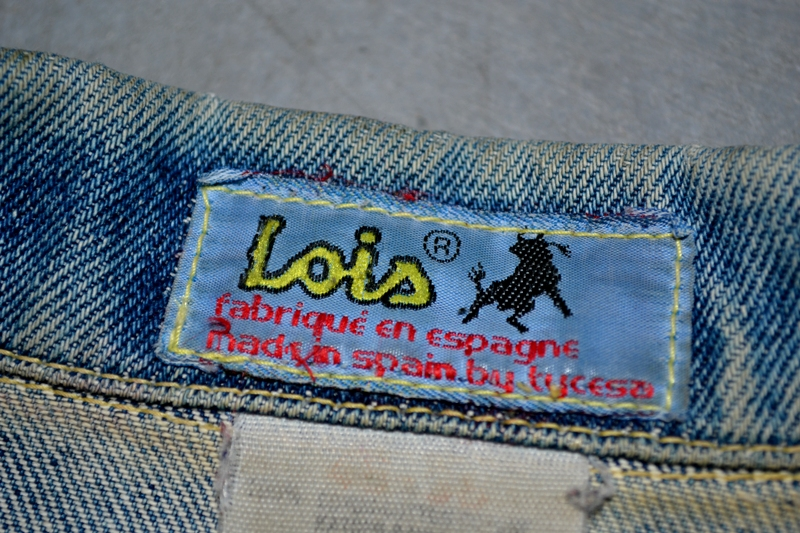 lois jeans denim long john blog store eindhoven strijp-s spanje spain valencia blue rigid raw torero torera number 1 nr 1 originals vintage 1970 abba johan cruyff bjorn borg jacket jack butter fly (3)