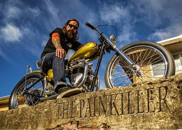 long john blog gaston FlakeKings flakekings eindhoven hollan nl 1952 Triumph Pre-Unit Chopper 650cc. pre-unit painkiller triumph bikers bike for sale custommade handmade yellow ride of the day   (3)