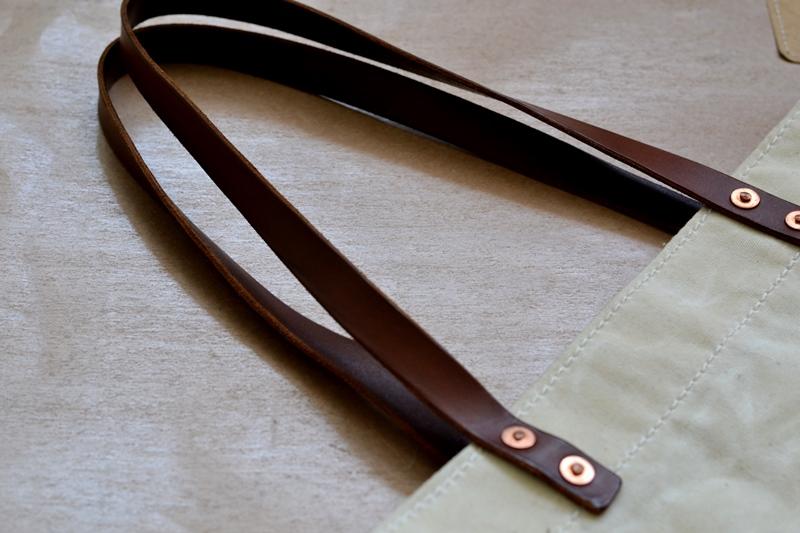 lvid utrecht holland long john blog bag totebag shopper canvas deadstock handmade handgemaakt leather strap rivet rivets nails (8)