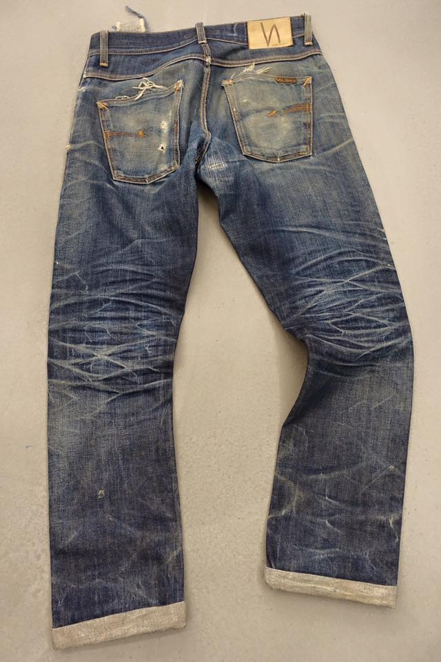 nudie jeans grim tim worn-out jeans denim  (1)