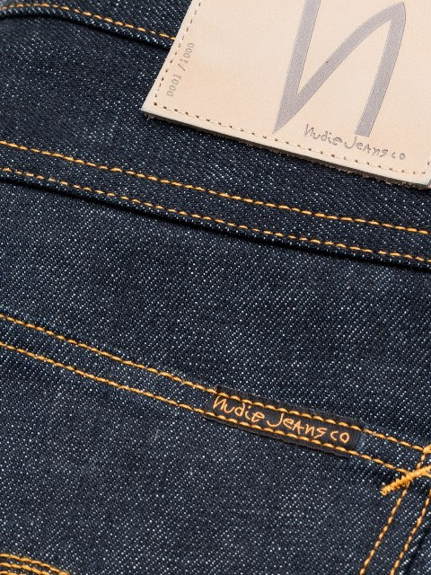 nudie jeans lean dean us selvage long john blog fabric selvedge denim blue indigo raw rigid unwashed patch leather sweden worn out  (4)