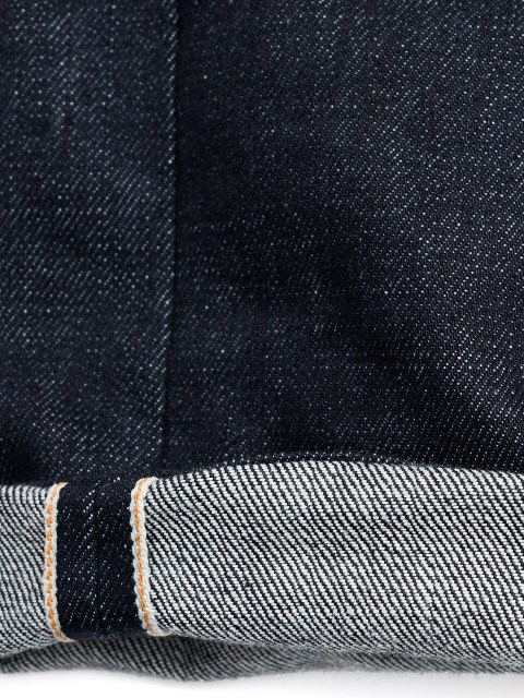 nudie jeans lean dean us selvage long john blog fabric selvedge denim blue indigo raw rigid unwashed patch leather sweden worn out  (5)