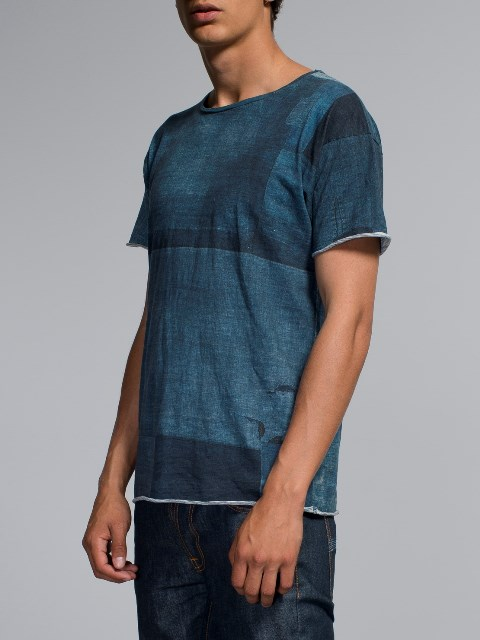 nudie jeans long john blog boro japan tshirt blue blauw shades indigo natural print printed sweden maria denim brand clothing 2004 handmade (3)