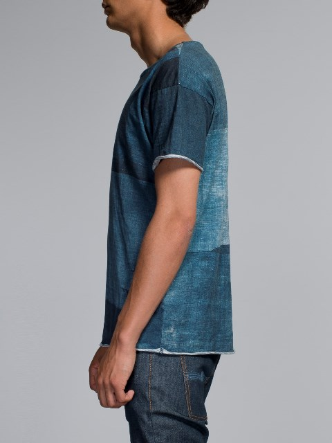 nudie jeans long john blog boro japan tshirt blue blauw shades indigo natural print printed sweden maria denim brand clothing 2004 handmade (4)