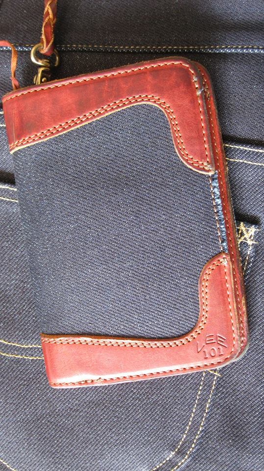 pol houtkamp lee 101 wallet 23oz worn-out long john blog denim jeans selvage selvedge blue indigo leather ageing aged oud geworden spijkerbroek marketing specialist events expo  (3)