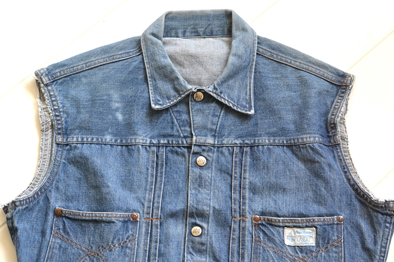 power house 101 powr house long john blog jeans jacket jack denim vintage 1960 montgomery ward authentic original denimheads blue indigo worn-out wornout faded (3)