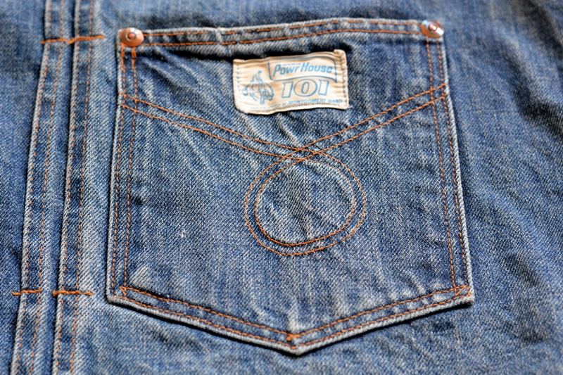 power house 101 powr house long john blog jeans jacket jack denim vintage 1960 montgomery ward authentic original denimheads blue indigo worn-out wornout faded (5)