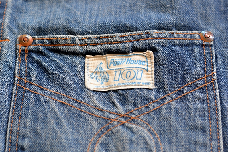 power house 101 powr house long john blog jeans jacket jack denim vintage 1960 montgomery ward authentic original denimheads blue indigo worn-out wornout faded (6)