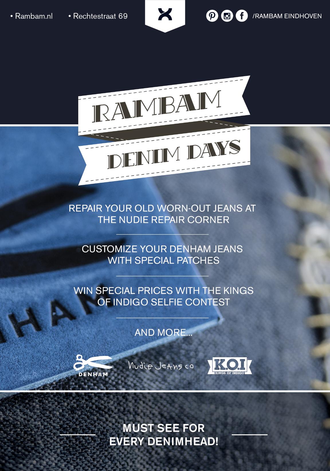 rambam store winkel eindhoven long john blog denim days 2016 september blue denham kings of indigo nudie jeans (1)