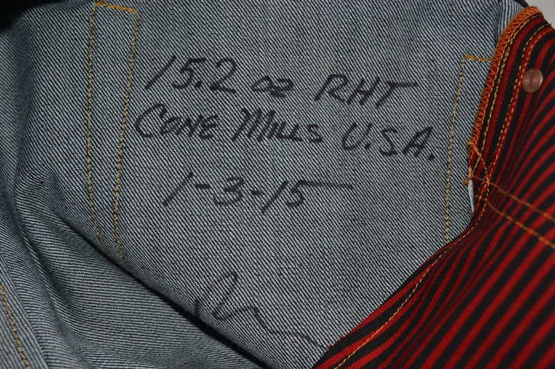 ray's denim long john blog michigan usa cone mills fabric right hand selvage selvedge handmade measurements pockets flasher buttons copper jeans jean rock and roll style blue indigo (14)