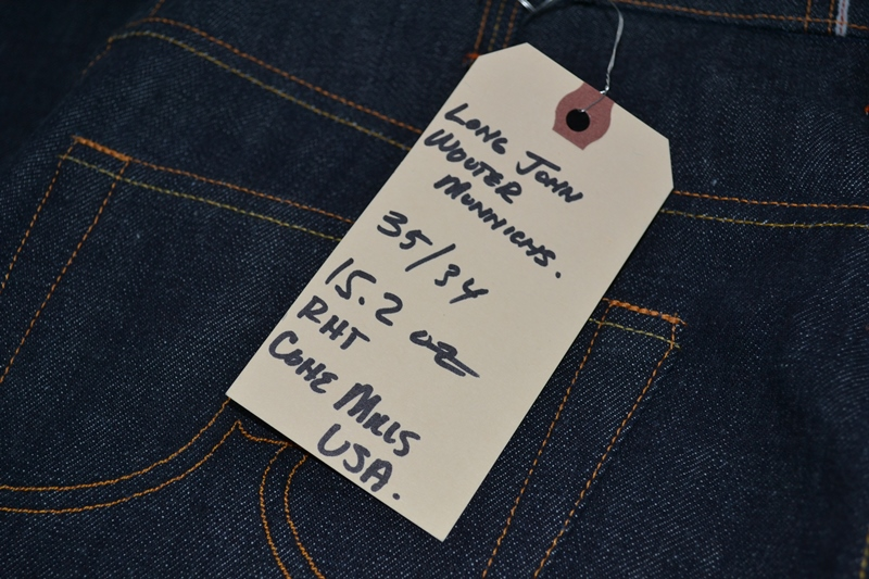 ray's denim long john blog michigan usa cone mills fabric right hand selvage selvedge handmade measurements pockets flasher buttons copper jeans jean rock and roll style blue indigo (19)
