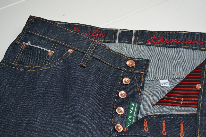 ray's denim long john blog michigan usa cone mills fabric right hand selvage selvedge handmade measurements pockets flasher buttons copper jeans jean rock and roll style blue indigo (5)