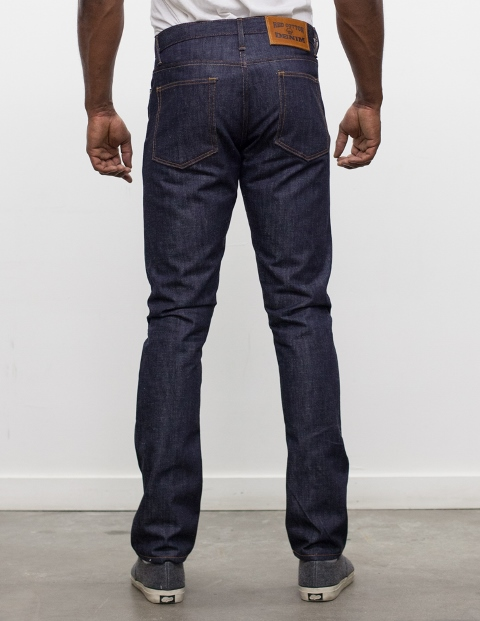 red cotton denim long john blog jeans blue blauw rigid raw unwashed selvage selvedge redline leather patch 5 pocket five rivets oakland usa us Camillo Love  (15)