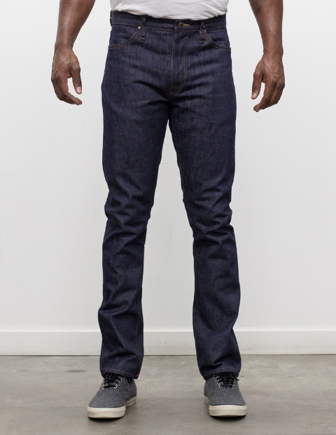 red cotton denim long john blog jeans blue blauw rigid raw unwashed selvage selvedge redline leather patch 5 pocket five rivets oakland usa us Camillo Love  (4)