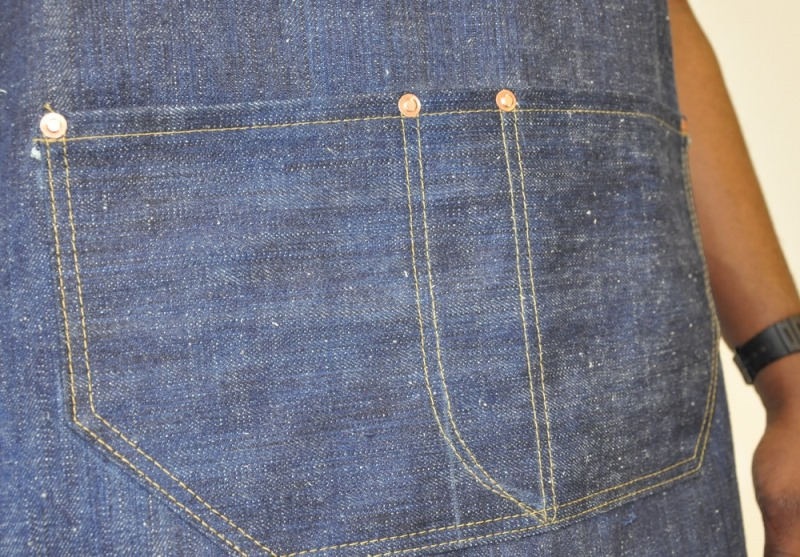 rest denim long john blog london jeans fabric japan handmade uk toby selvage selvedge rigid unwashed blue indigo schort handgemaakt spijkerbroek blauw rivets rivet stitching chain  (2)