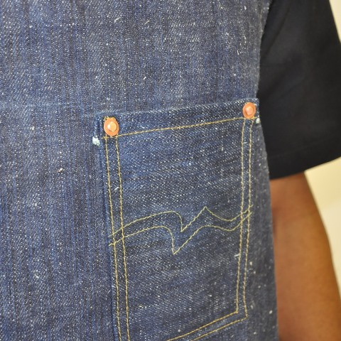 rest denim long john blog london jeans fabric japan handmade uk toby selvage selvedge rigid unwashed blue indigo schort handgemaakt spijkerbroek blauw rivets rivet stitching chain  (3)