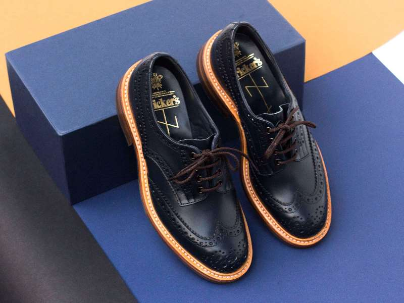 tenuedenimes tenue de nimes long john blog trickers footwear shoes uk collab collaboration blue indigo dandy handmade leather goodyear welted construction boots 2015 shop store amsterdam nl holland (2) - kopie