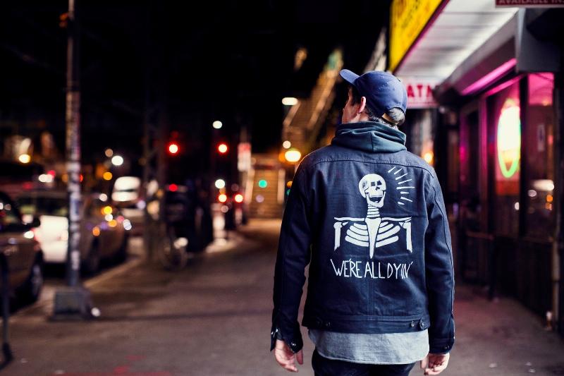 the almighty defender jackets hand painted long john blog trucker jackets jacket blue indigo usa american handmade customizen blue indigo (2)
