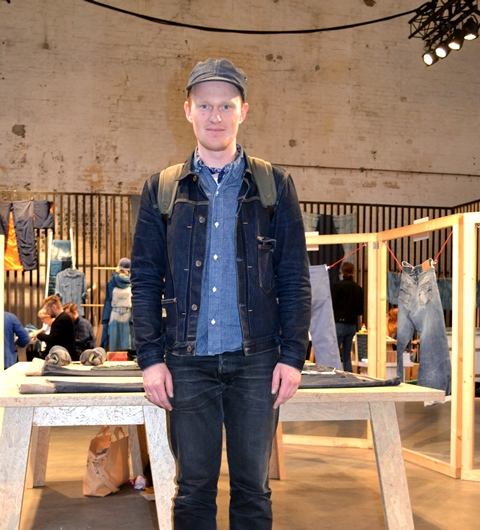 thomas stege bojer denmark denemarken denimhunters long john blog kingpins fabric fair amsterdam jeans show event 2015 seven senses fabric stand booth selvage selvage