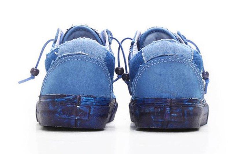 vans c2h4 store collab 2016 summer long john blog special edition blue indigo dyed dip dipping boro sashiko  (2)