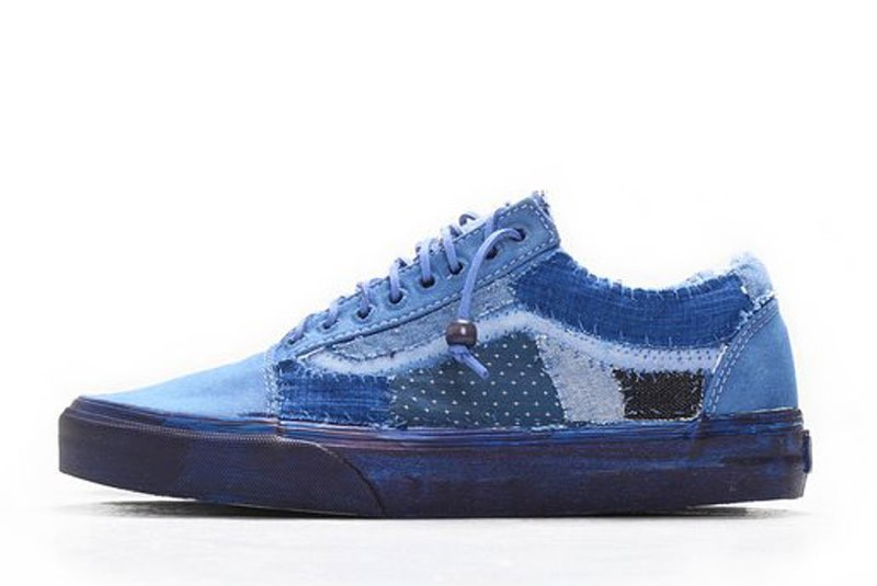 vans c2h4 store collab 2016 summer long john blog special edition blue indigo dyed dip dipping boro sashiko  (6)