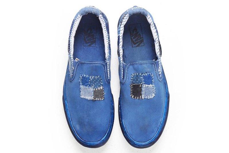 vans c2h4 store collab 2016 summer long john blog special edition blue indigo dyed dip dipping boro sashiko  (8)