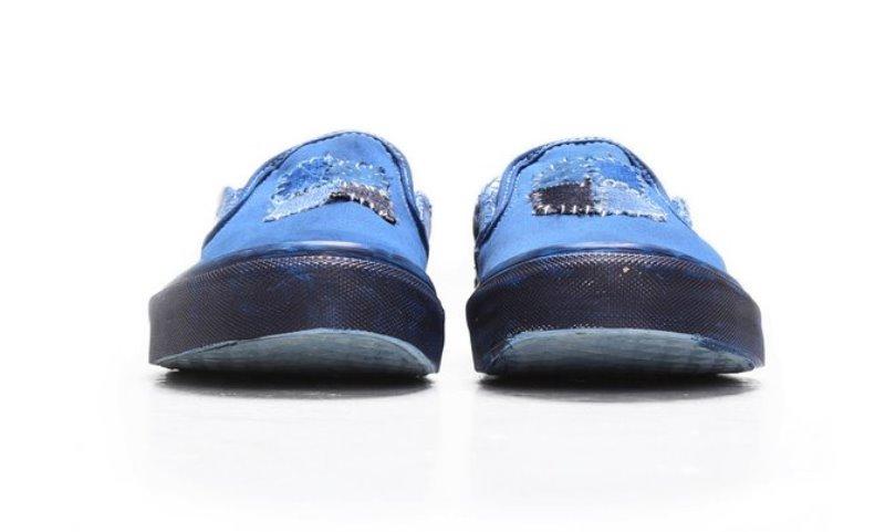 vans c2h4 store collab 2016 summer long john blog special edition blue indigo dyed dip dipping boro sashiko  (9)