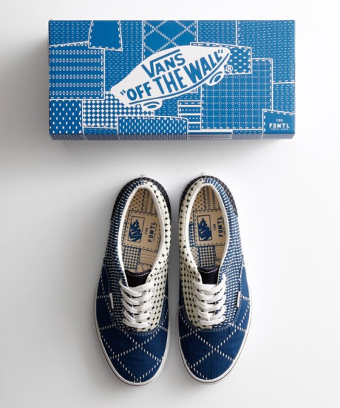 vans shoes footwear fdmtl japan indigo blue raw jeans denim selvage selvedge sneakers anniversary box 2015 limited edition patchwork patch work boro sashiko (8)