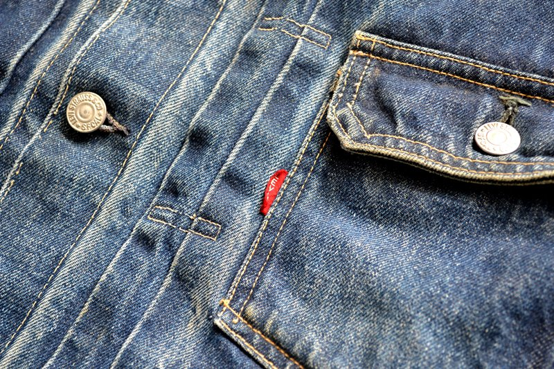 vintage levi's jeans 507XX denim long john blog type 2 original authentic usa american patch workwear rock and roll button #0 selvage selvedge redline worn-out washed (5)