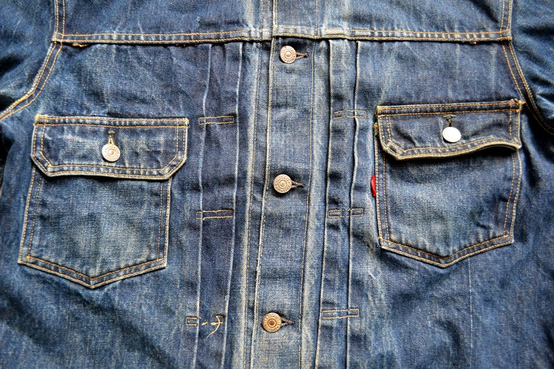 vintage levi's jeans 507XX denim long john blog type 2 original authentic usa american patch workwear rock and roll button #0 selvage selvedge redline worn-out washed (7)