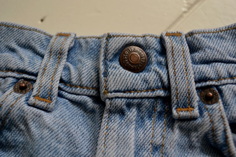 vintage levi's jeans baby long john blog orange tab 5 pocket right hand fabric light blue zipper usa levi strauss non-selvage selvedge buttons treasure hunting private collection wouter munnichs us ma (2)
