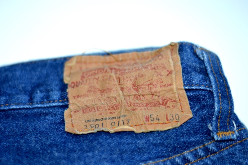 vintage levis jeans long john blog original shrink to fit size 54 usa redline selvage selvedge indigo blue america levi strauss  (3)