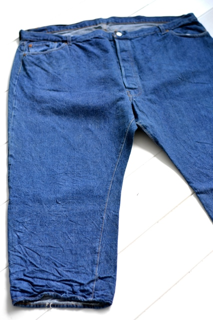 vintage levis jeans long john blog original shrink to fit size 54 usa redline selvage selvedge indigo blue america levi strauss  (5)