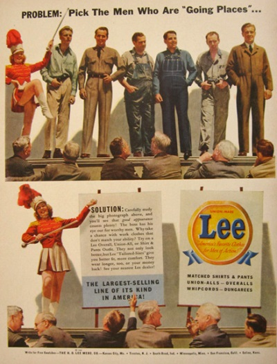 vintage old long john blog lee jeans advertsing ads campagne jeans denim selvage selvedge blue rigid raw blauw spijkerbroek advertentie usa american workwear (1)