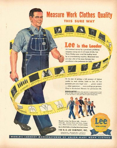 vintage old long john blog lee jeans advertsing ads campagne jeans denim selvage selvedge blue rigid raw blauw spijkerbroek advertentie usa american workwear (4)