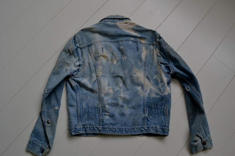 wrangler 8mz jacket long john blog jeans denim 8oz left hand fabric golden yellow selvage selvedge zipper one breast pocket usa blue bell 1951 (15)