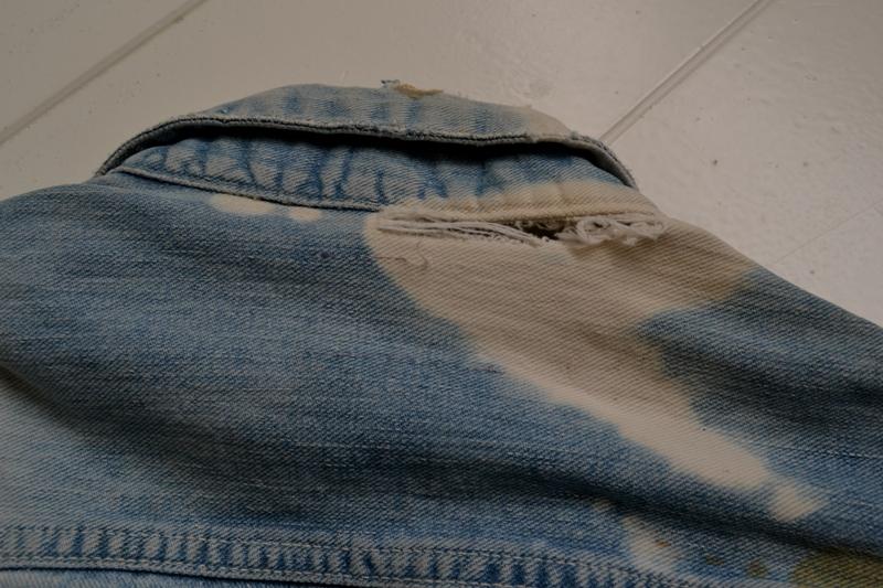 wrangler 8mz jacket long john blog jeans denim 8oz left hand fabric golden yellow selvage selvedge zipper one breast pocket usa blue bell 1951 (17)