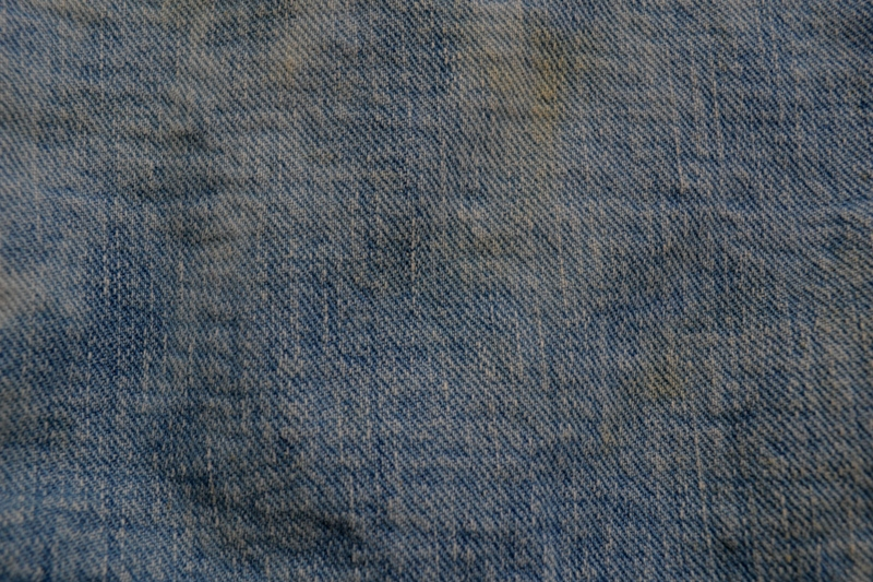 wrangler 8mz jacket long john blog jeans denim 8oz left hand fabric golden yellow selvage selvedge zipper one breast pocket usa blue bell 1951 (20)