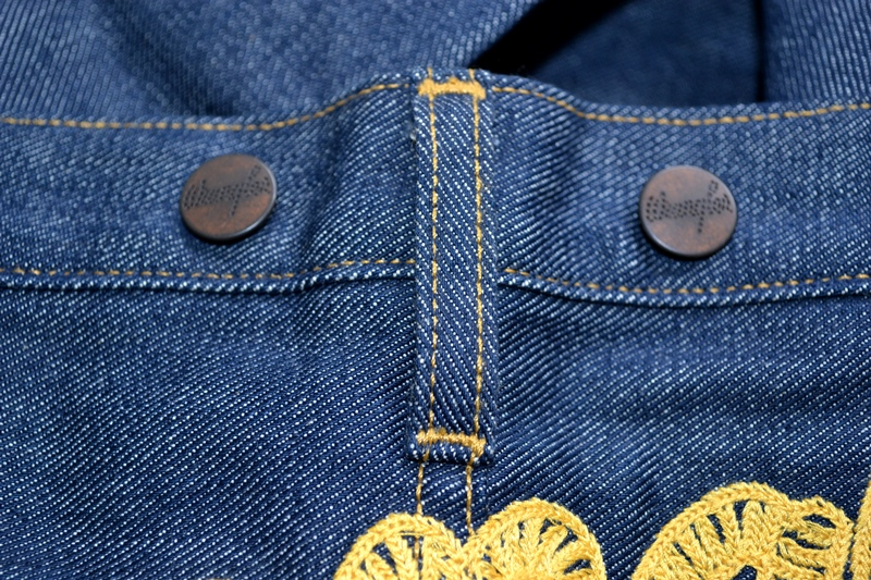 wrangler blue bell champion pants long john blog rodeo clown jeans denim deadstock non-selvage left hand fabric blue indigo usa western (1)