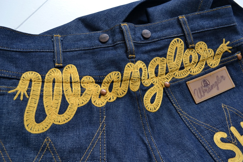 wrangler blue bell champion pants long john blog rodeo clown jeans denim deadstock non-selvage left hand fabric blue indigo usa western (13)