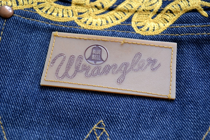 wrangler blue bell champion pants long john blog rodeo clown jeans denim deadstock non-selvage left hand fabric blue indigo usa western (4)