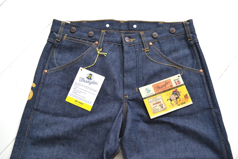 wrangler blue bell champion pants long john blog rodeo clown jeans denim deadstock non-selvage left hand fabric blue indigo usa western (5)