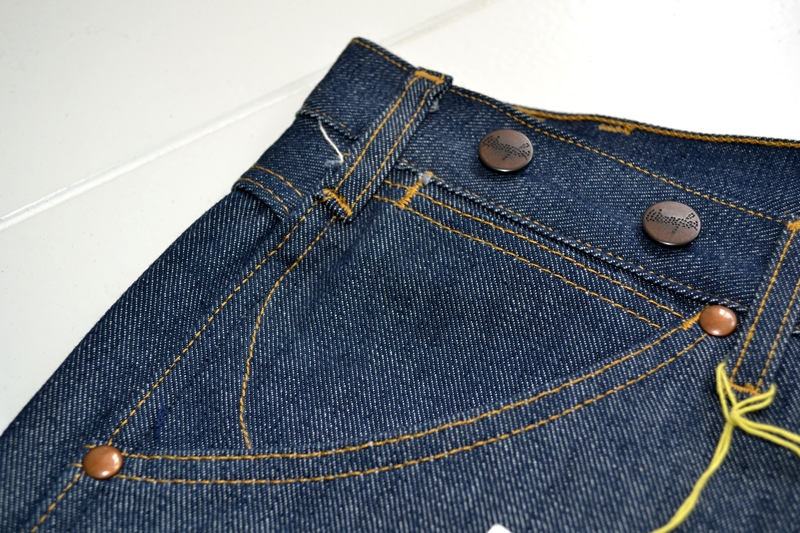 wrangler blue bell champion pants long john blog rodeo clown jeans denim deadstock non-selvage left hand fabric blue indigo usa western (8)