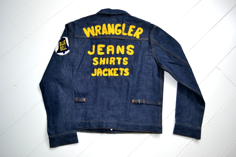 wrangler blue bell jacket long john blog promo jack champion 1956 1904 jeans denim selvage golden selvedge blue rigid unwashed deadstock jas spijkerstof spijkerjas usa cowboy rodeo (26)