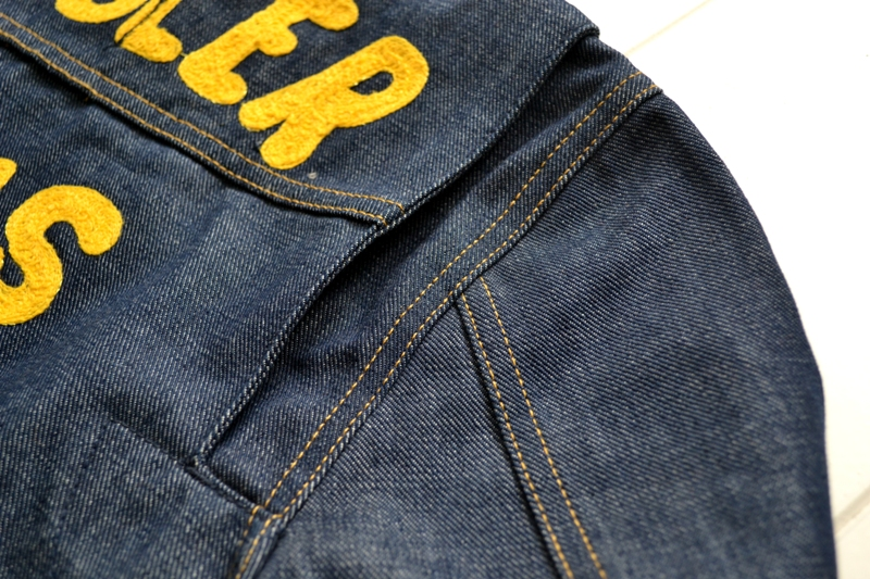 wrangler blue bell jacket long john blog promo jack champion 1956 1904 jeans denim selvage golden selvedge blue rigid unwashed deadstock jas spijkerstof spijkerjas usa cowboy rodeo (32)
