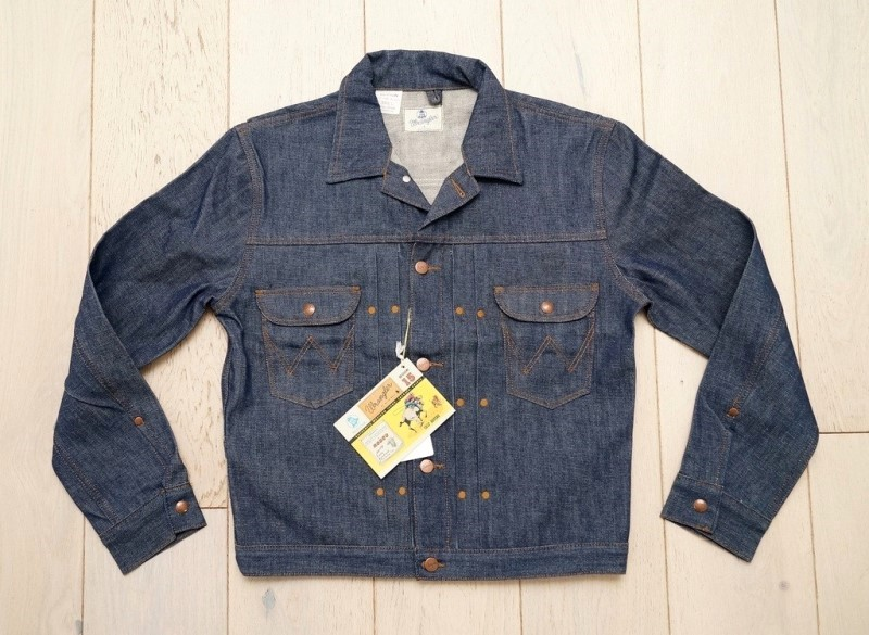 wrangler blue bell jacket long john blog promo jacket rodeo jacket 1956 bull usa selvage selvedge rigid unwashed deadstock raw comic book yellow gold  (1)