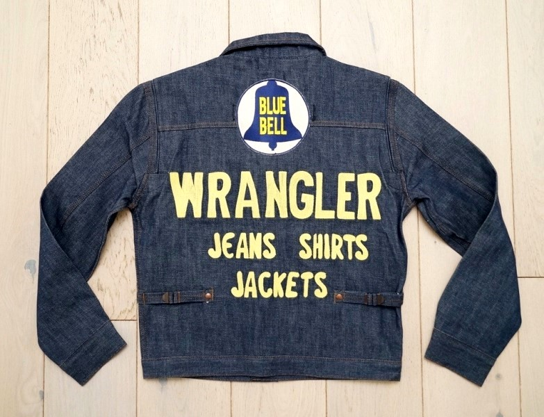 wrangler blue bell jacket long john blog promo jacket rodeo jacket 1956 bull usa selvage selvedge rigid unwashed deadstock raw comic book yellow gold  (2)