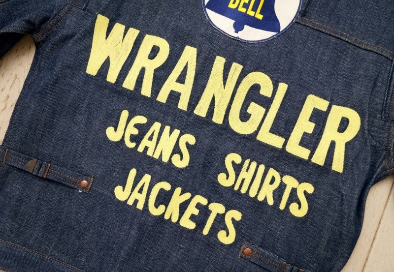 wrangler blue bell jacket long john blog promo jacket rodeo jacket 1956 bull usa selvage selvedge rigid unwashed deadstock raw comic book yellow gold  (3)