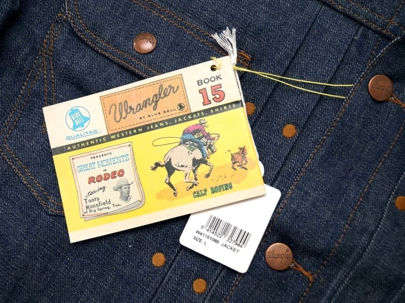 wrangler blue bell jacket long john blog promo jacket rodeo jacket 1956 bull usa selvage selvedge rigid unwashed deadstock raw comic book yellow gold  (5)